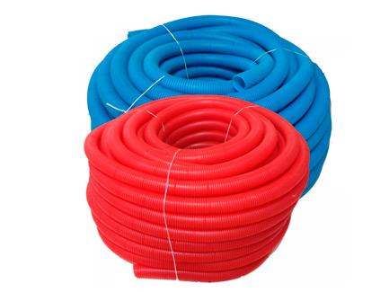 Труба гофрированная ELSEN FlexLight - 16 (наружный диаметр 25 мм, цвет красный, бухта 50 м.)