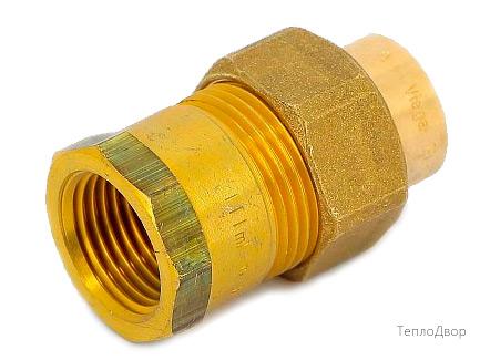 Разъемное соединение пайка-В с плоской прокладкой VIEGA 18х1/2