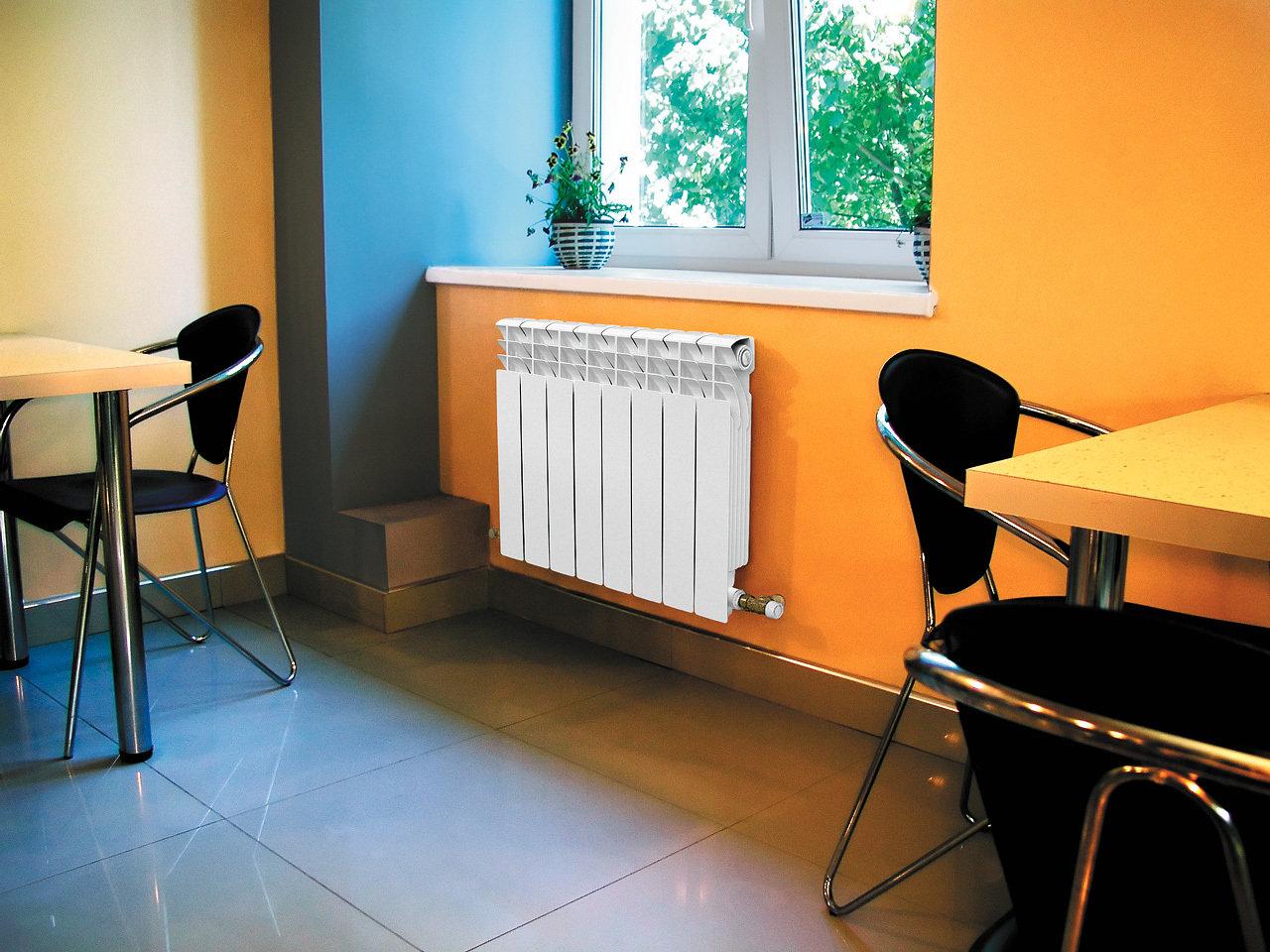 Биметаллические радиаторы в интерьере