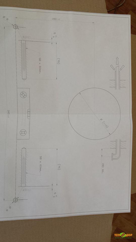 Шаблон облегчающий монтаж Bosch WBN 6000-24C