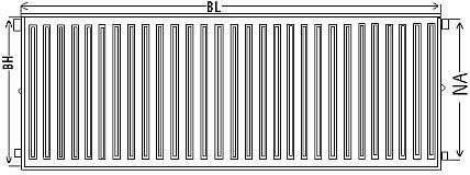Радиатор Керми с боковым подключением, параметры